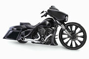 Turnout 2-1 Chrome Full Exhaust Black Sculpted Tip Hd00837 For 95-16 Hd Flh Flt