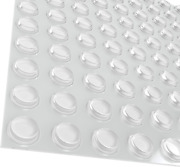 Pack Of 100 Cabinet Door Bumpers - 1/2andrdquo Diameter Clear Adhesive Pads For Drawers