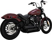 Mini-grenades Black Full Exhaust Vance And Hines 46878 For 18-21 Harley Softail