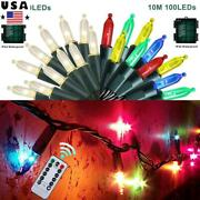 10m 100leds Christmas String Light Battery Operated Twinkle Lights Garden Party
