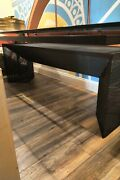 Black Metal And Glass Table Designed By Mario Bota Full Height Table94x 39 1/2