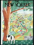New Yorker Magazine Framing Cover May 19 1934 Cow Overlooking Countryside
