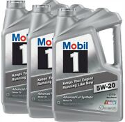 Mobil 1 120763 Full Synthetic Engine Oil 5w20 5 Quart Jugs Set Of 3