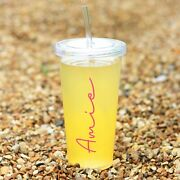 Personalised Tumbler With Straw Venti Starbucks Inspired Cold Cup Hen Party Gift