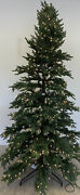 Balsam Hill Norway Spruce Narrow 7.5 Clear Lights Artificial Christmas Tree Open