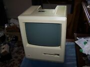 Macintosh Plus Platinum Case M0001w With Power Supply And Crt - Sold As Is