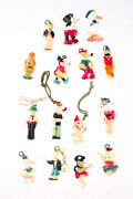 Designer 1930-1940s Celluloid Character Charms Lot 15