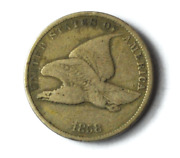 1858 1c Flying Eagle Penny One Cent Us Philadelphia Copper Small Letter