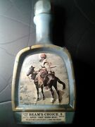 """Vintage Jim Beam's Choice Frederic Remington """"indian Trapper"""" Decanter 1979"""