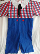 Raggedy Andy Adult Plus Size Jumper Jumpsuit Only Costume Nwot New Clown Ann