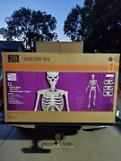 12 Foot Giant Skeleton W/ Animated Lcd Eyes Halloween Prop Home Depot Sold Out