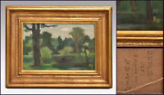 Mami Nose Oil Painting Botanical Garden Green P6 1938 Production With Sign