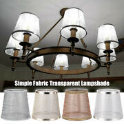 Sheer Textured Woven Crosshatch Fabric Drum Lampshade Light Shade Home Decor New
