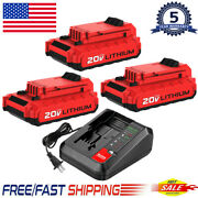 For Porter Cable 20 Volt Max Lithium-ion 2.0ah Battery Pcc680l Pcc685l / Charger