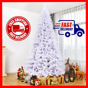 Christmas Tree 9ft White Decor Xmas Outdoor Indoor Hanging Ornaments Full 2132