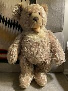 Vintage 1948-50 Button Steiff Bear Zotty Mohair 21 Jointed Growler Open Mouth