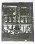 Antique F H Hutch Furniture Delivery Wagon Horse 11x14 Glass Photo Bethlehem Pa