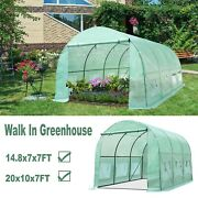 Greenhouse Large Portable Walk-in Hot Green House Plant Gardening Tunnel Tent Us