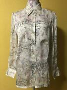 Camellia Silk Blouse From Japan Fedex No.8283