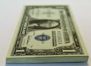 1957 1 Silver Certificates Fifty Consecutive Notes. Gem Choice Uncirculated.