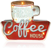 Coffee Shop Wall Decorationluminous Signsusing Retro-painted Industrial Metal T
