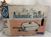 New Old Stock Ge King Size Automatic Skillet No Cord No C121 W/use And Care Book