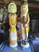 Vintage Thanksgiving Blow Mold Pilgrims Union Products Don Featherstone 1996