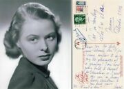 Uaccrd Ingrid Bergman Autograph Who Rings The Bell For Casablanca Gas Lamp