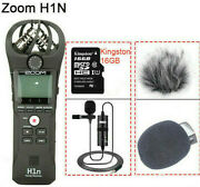Dslr Original Zoom H1n Handy Stereo Microphone Recorder Audio Video Interview