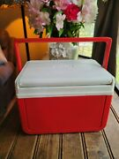 Vtg Motorola Talk About 2 Way Radio Coleman Personal Cooler Ice Chest Model 5205
