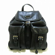 Secondhand Backpack Black Soft Calf Leather