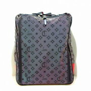 Secondhand Christian Louboutin Hopand039n Zip Backpack Purple Red Black Nylon Rubber