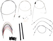 Burly B30-1084 Braided Stainless Steel Cable/brake Line Kit