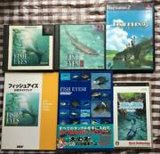Ps Ps2 Psp Fish Eyes Portable Strategy Book Set Guide Books
