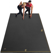 Gxmmat Extra Large Exercise Mat 6'x8'x7mm, Thick Workout Mats For Home Gym High