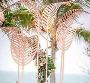 Wedding Props Iron Banana Tree Leaf Free Size Road Lead Stage Layout Backgrounds
