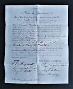 1860 Antique Marriage Certificate New Orleans La David Maxwell Lucy Rollins