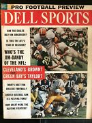 1962 Pro Football Preview Dell Sports Jim Brown Cleveland Jim Taylor Green Bay