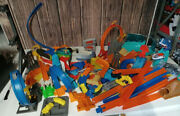 Huge Hot Wheels Lot Race Track Misc. Parts And Pieces Jumps Sharks Mario And More