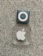 Apple Ipod Pc751ll/a Shuffle 4th Generation - Blue 2gb Charging Cable Vguc