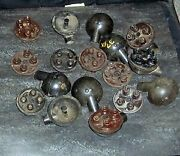 10 Each Used 1930and039s-1940and039s Ford V-8 Inner And Outer Distributor Caps Covers