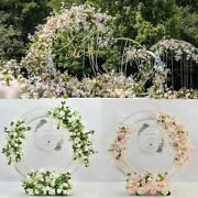 Artificial Flowers Row Wedding Ring Arch Decors Photo Shoot Background Road Lead
