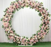 Set Wedding Decors Ring Arch Roses Flowers Stand Background Arrangements Outdoor
