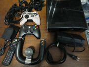 Xbox 360 Lot Console, Kinect, 3 Controllers And 16 Games