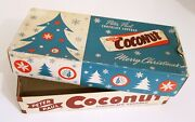 Vintage Peter Paul Coconut Candy Bar Box Empty Christmas Counter Display 5c