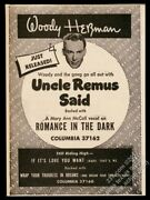1946 Woody Herman Photo Uncle Remus Said Record Release Vintage Trade Print Ad