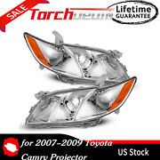 Headlights Assembly For 2007-2009 Toyota Camry Headlamps Replacement Set Pair