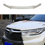 For Toyota Highlander 2014-19 White Painted Hood Bug Stone Chip Deflector Guard