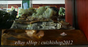 21 Chinese Natural Xiu Jade Carving Mountain Pine Tree House Scenery Statue