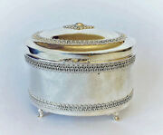 High Quality 925 St Silver Etrog Container Traditional Judaica Special Art Gift